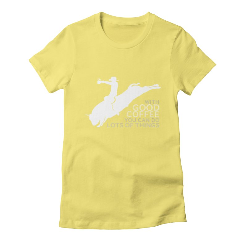 Do Lots of Things Women's Fitted T-Shirt by Pure Coffee Blog Shop