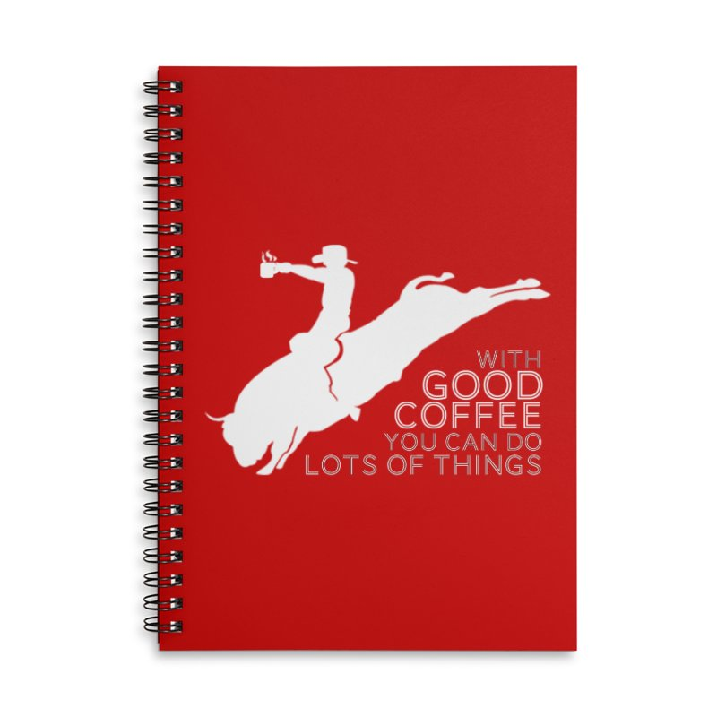 Do Lots of Things Accessories Lined Spiral Notebook by Pure Coffee Blog Shop