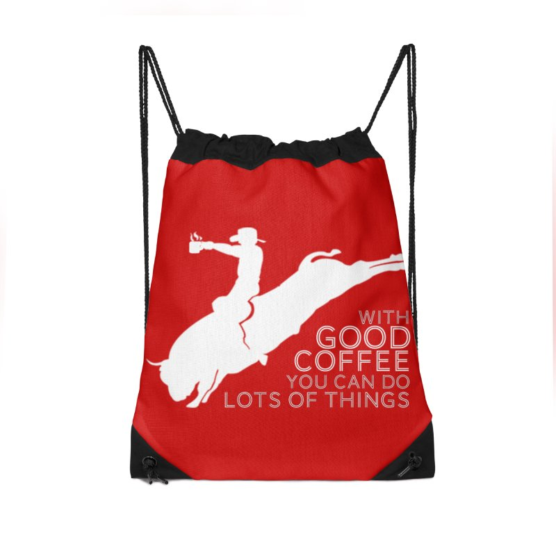 Do Lots of Things Accessories Drawstring Bag Bag by Pure Coffee Blog Shop