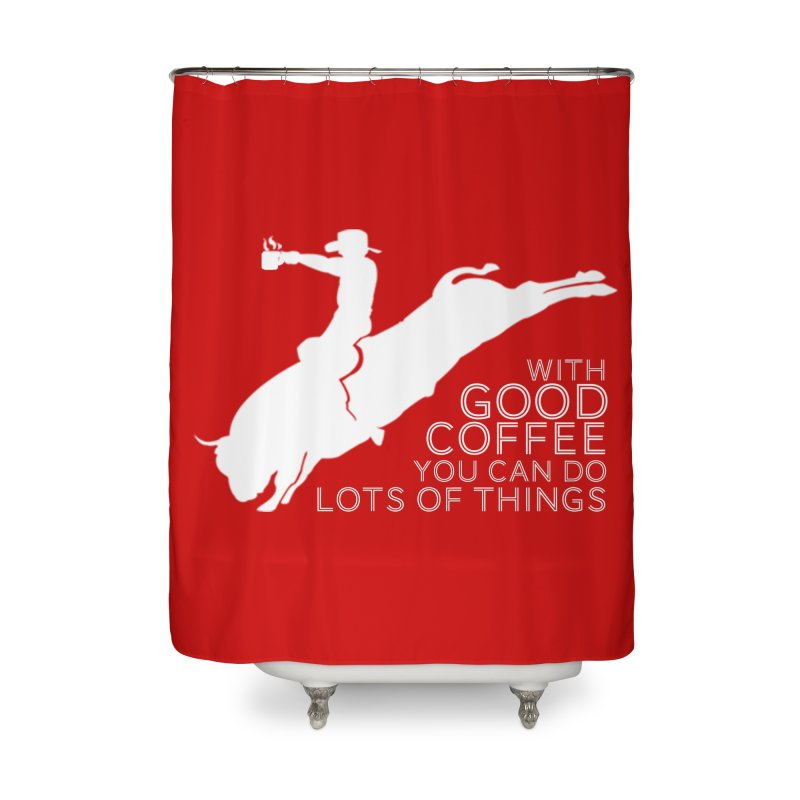 Do Lots of Things Home Shower Curtain by Pure Coffee Blog Shop