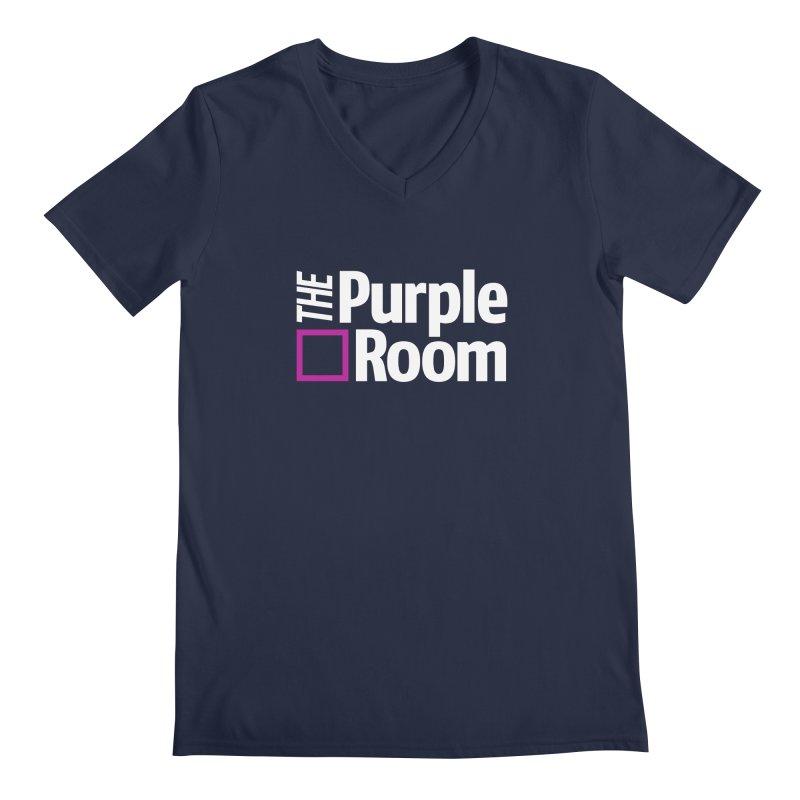 The Purple Room Men's V-Neck by The Purple Room Designs