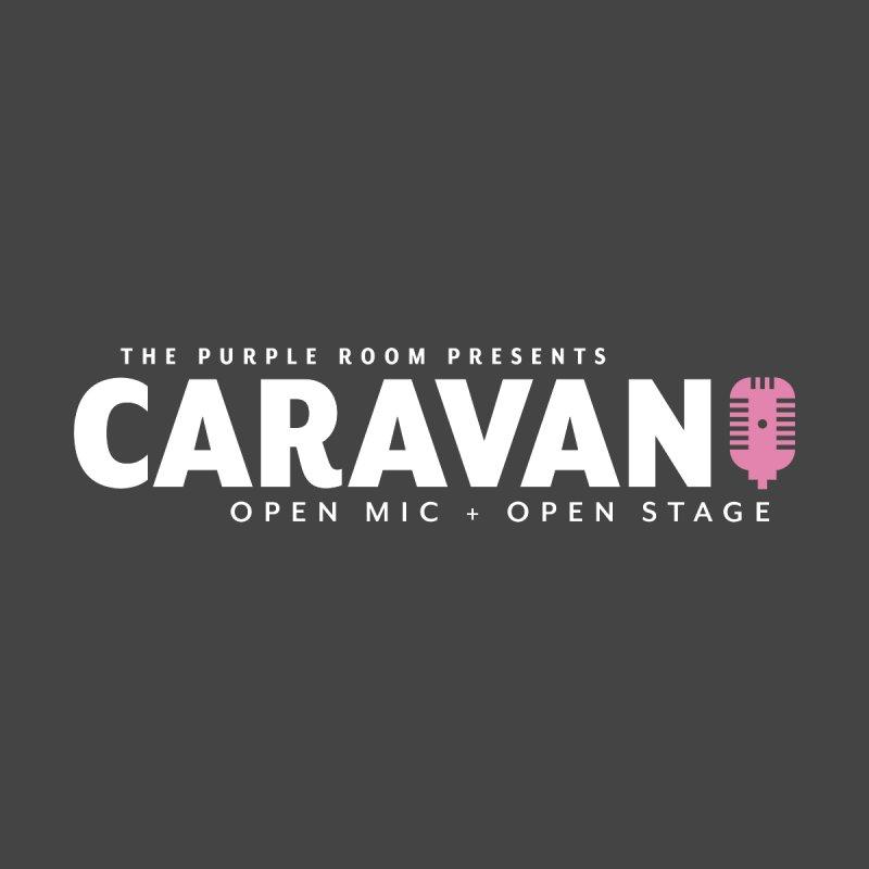CaRaVaN Open Mic - Long Logo Home Fine Art Print by The Purple Room Designs