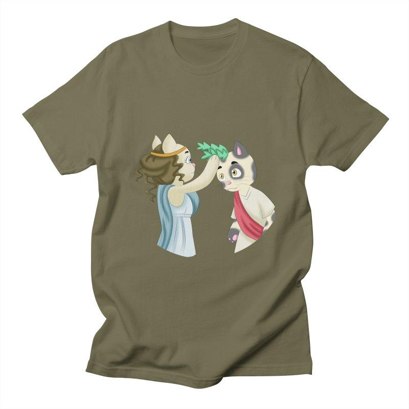 Laurel Cat Men's T-Shirt by Purr City's Artist Shop