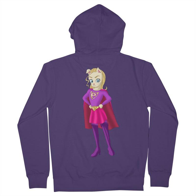 Super Purr Women's Zip-Up Hoody by Purr City's Artist Shop
