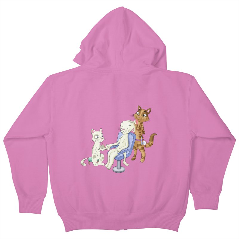 Pampered cat in Kids Zip-Up Hoody Cotton Candy by Purr City's Artist Shop