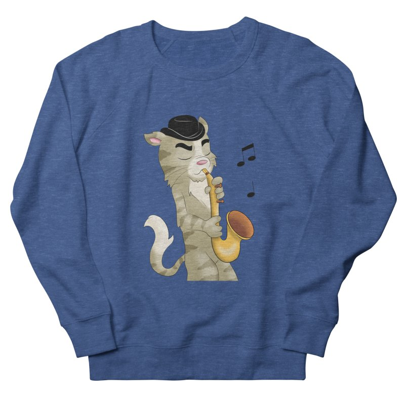 Saxophone Cat Men's Sweatshirt by Purr City's Artist Shop