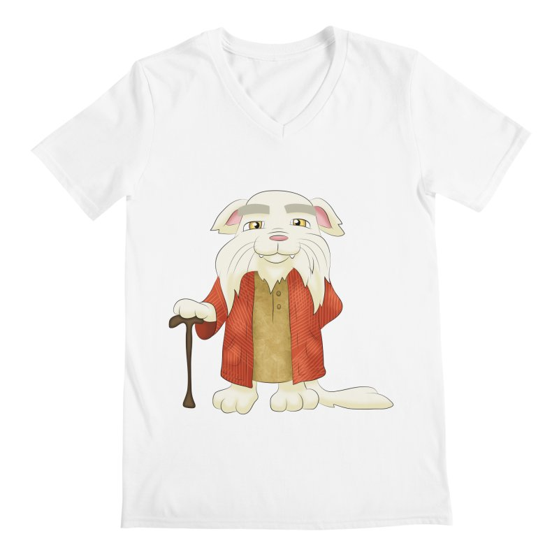 Gandalf Cat Men's V-Neck by Purr City's Artist Shop