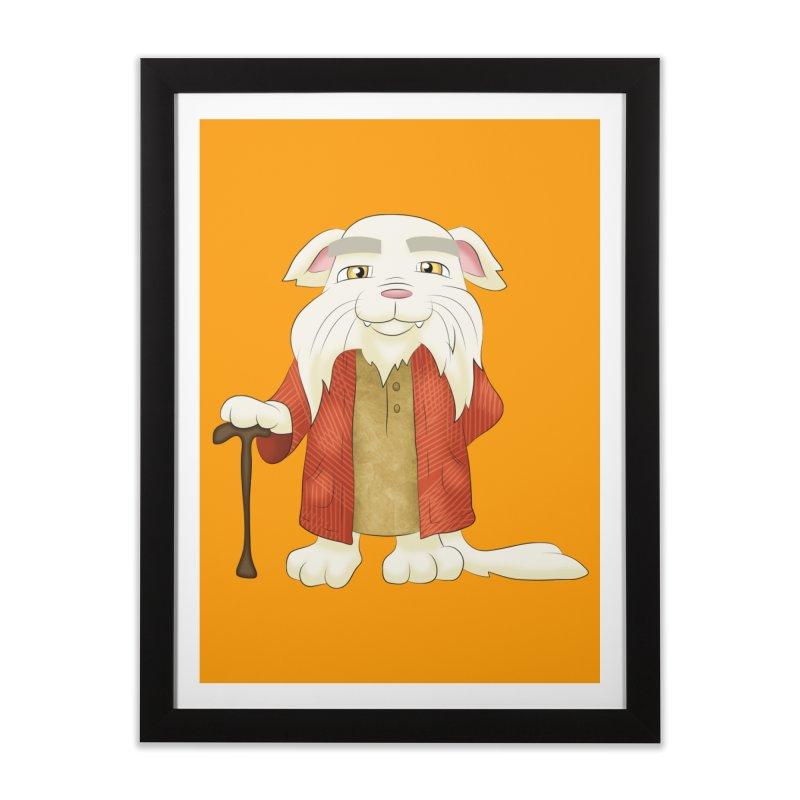 Gandalf Cat Home Framed Fine Art Print by Purr City's Artist Shop