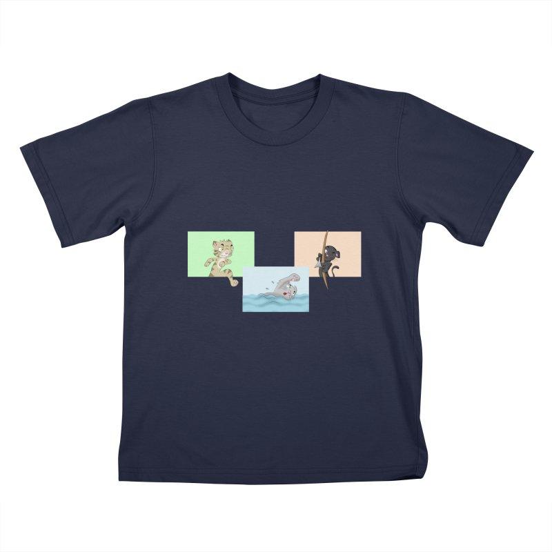 Purr City: Active Cats Kids T-Shirt by Purr City's Artist Shop