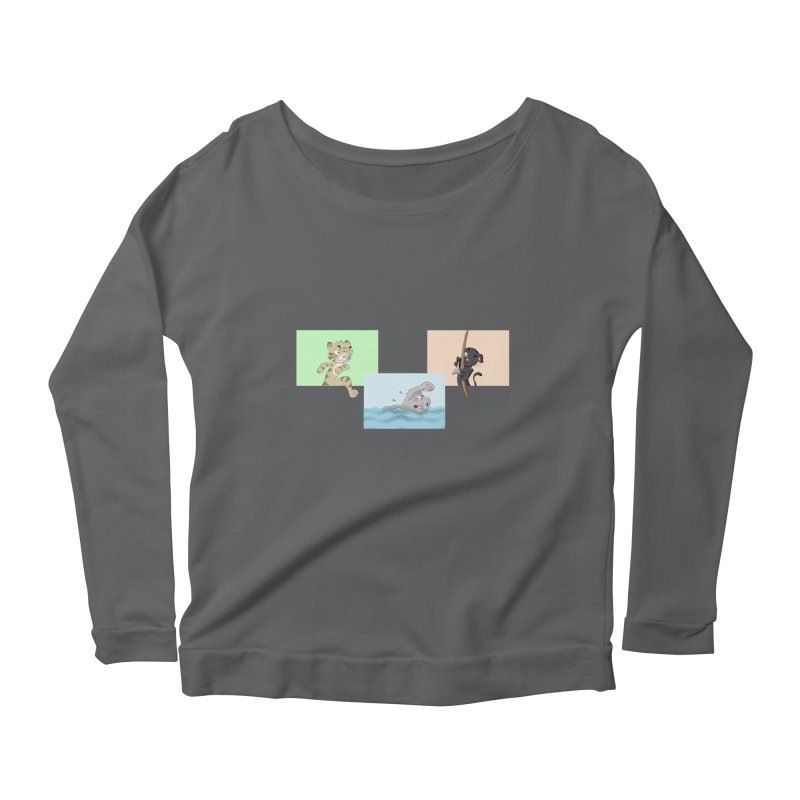Purr City: Active Cats Women's Longsleeve T-Shirt by Purr City's Artist Shop