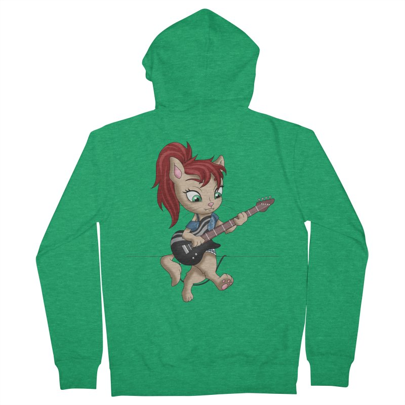 Guitar Cat Women's Zip-Up Hoody by Purr City's Artist Shop