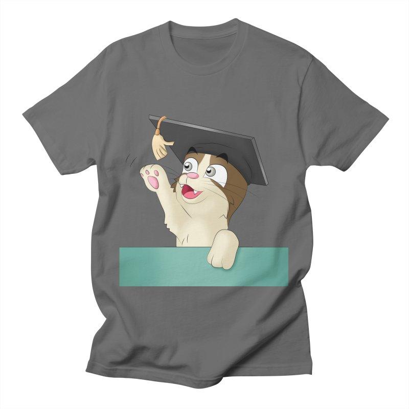 Graduation Cat Men's T-Shirt by Purr City's Artist Shop