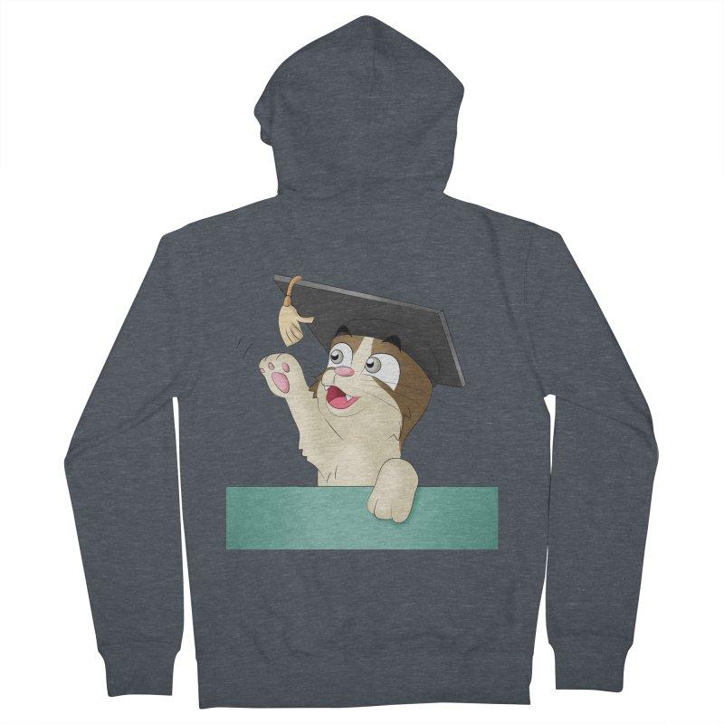 Graduation Cat Men's Zip-Up Hoody by Purr City's Artist Shop