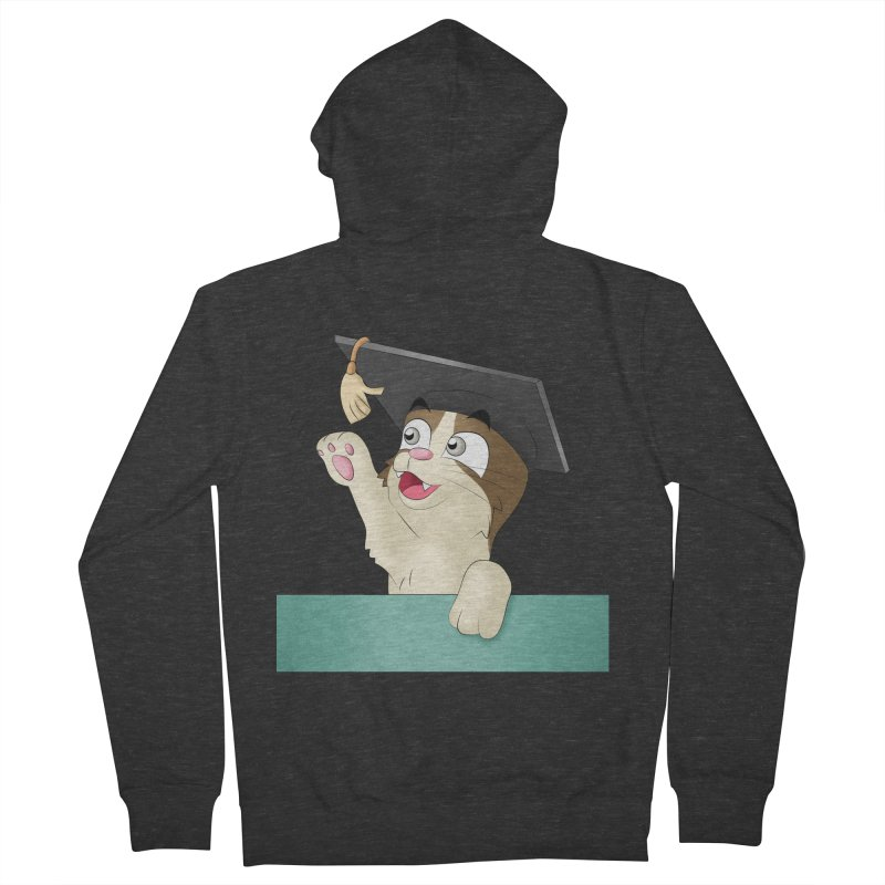Graduation Cat Men's Zip-Up Hoody by Purr City's Artist Shop
