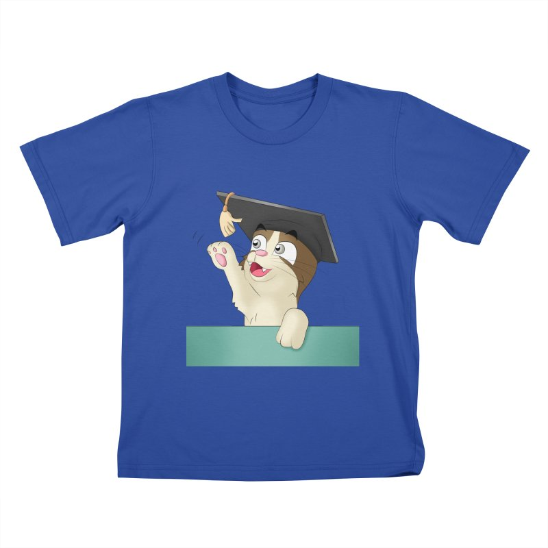 Graduation Cat Kids T-Shirt by Purr City's Artist Shop