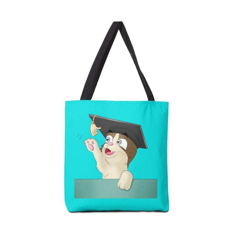 Graduation Cat Accessories Bag by Purr City's Artist Shop