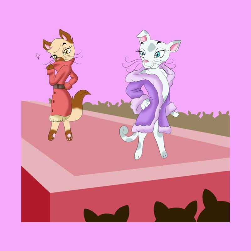 Catwalk Cats Kids T-Shirt by Purr City's Artist Shop