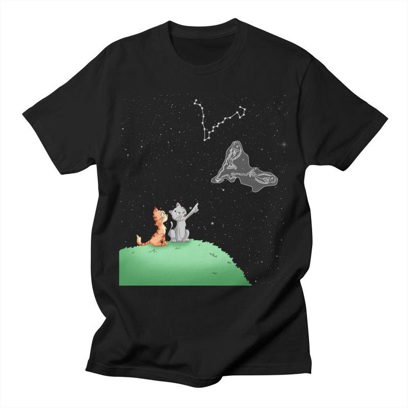 Romantic Cat - Pisces constellation Men's T-Shirt by Purr City's Artist Shop