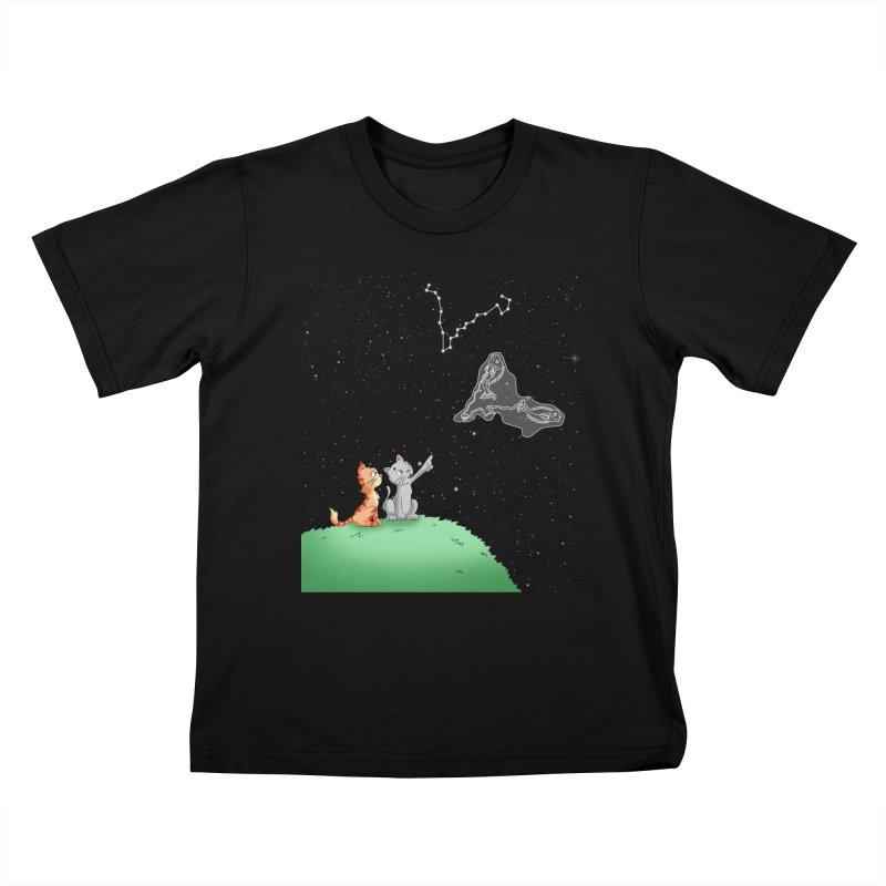 Romantic Cat - Pisces constellation Kids T-Shirt by Purr City's Artist Shop