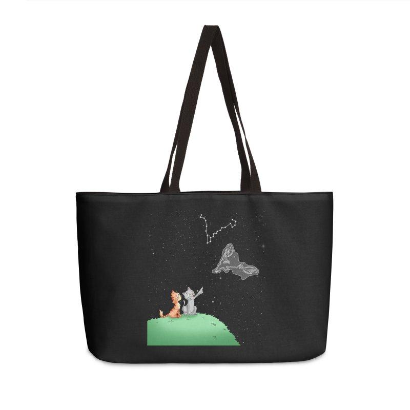 Romantic Cat - Pisces constellation Accessories Bag by Purr City's Artist Shop