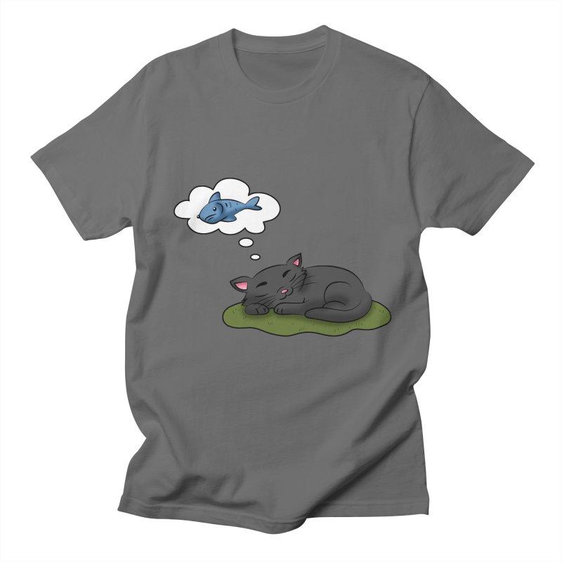 Dreaming Cat Men's T-Shirt by Purr City's Artist Shop