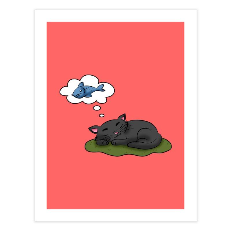 Dreaming Cat Home Fine Art Print by Purr City's Artist Shop