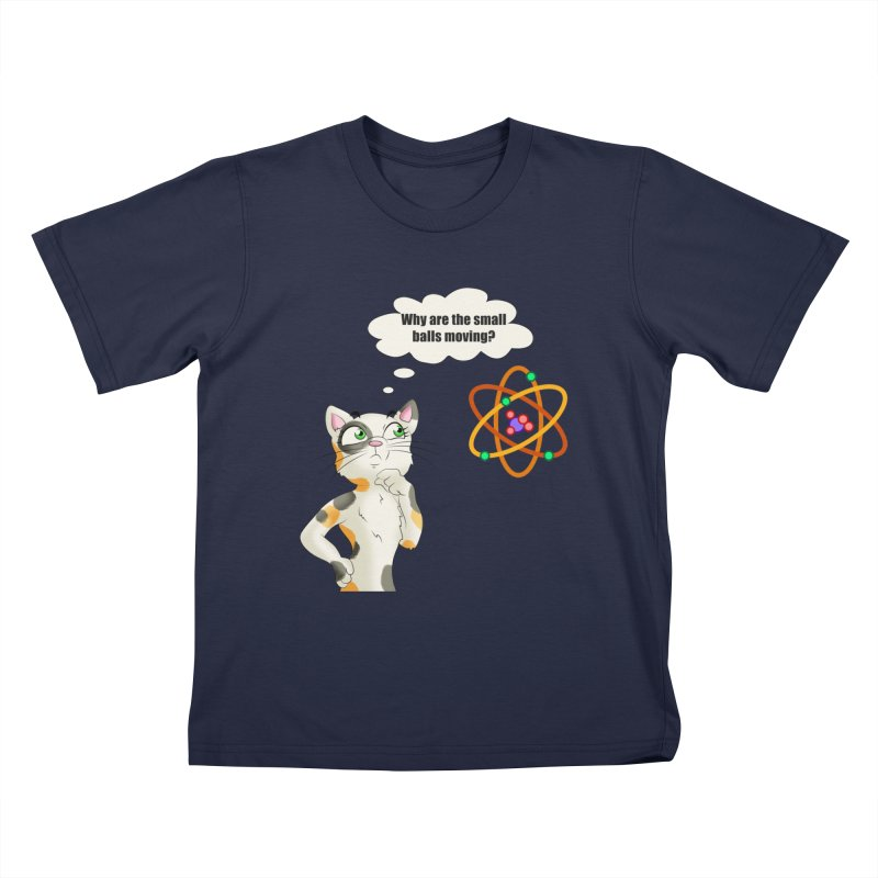 Atom cat Kids T-Shirt by Purr City's Artist Shop