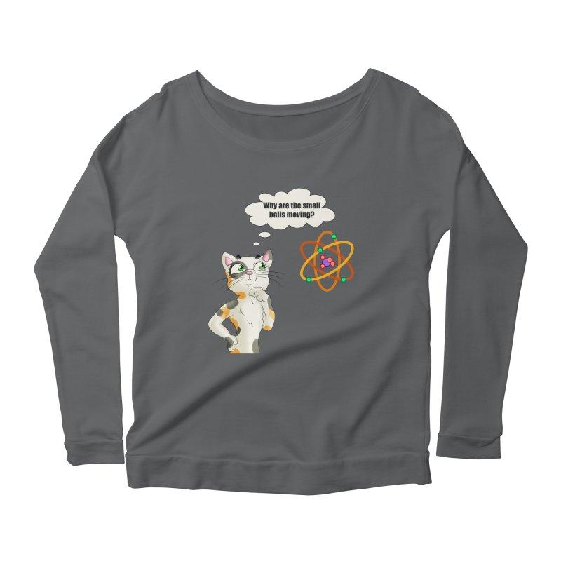 Atom cat Women's Longsleeve T-Shirt by Purr City's Artist Shop