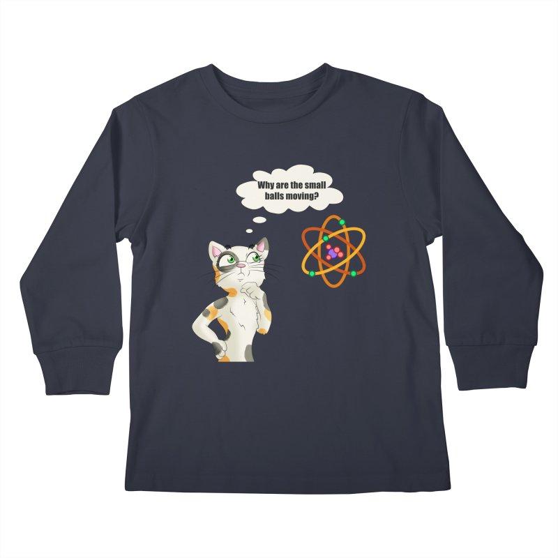 Atom cat Kids Longsleeve T-Shirt by Purr City's Artist Shop