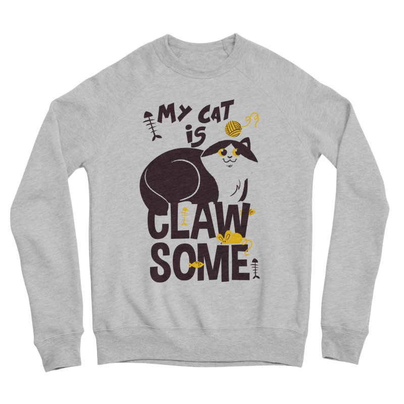 My Cat Is Clawsome Men's Sponge Fleece Sweatshirt by Purrform