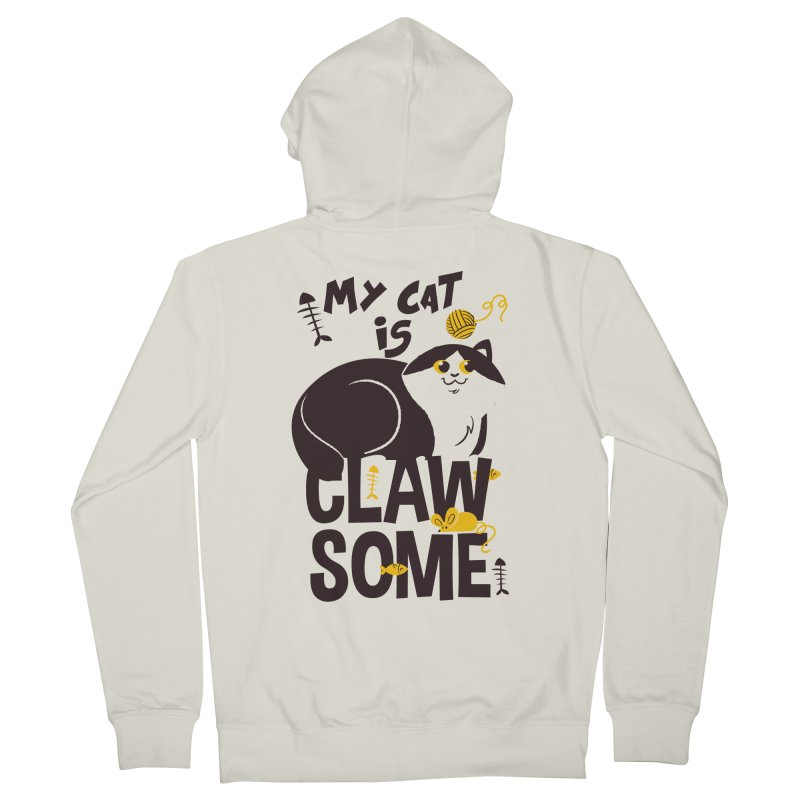 My Cat Is Clawsome Women's French Terry Zip-Up Hoody by Purrform