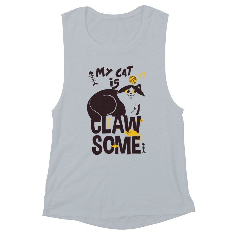 My Cat Is Clawsome Women's Muscle Tank by Purrform