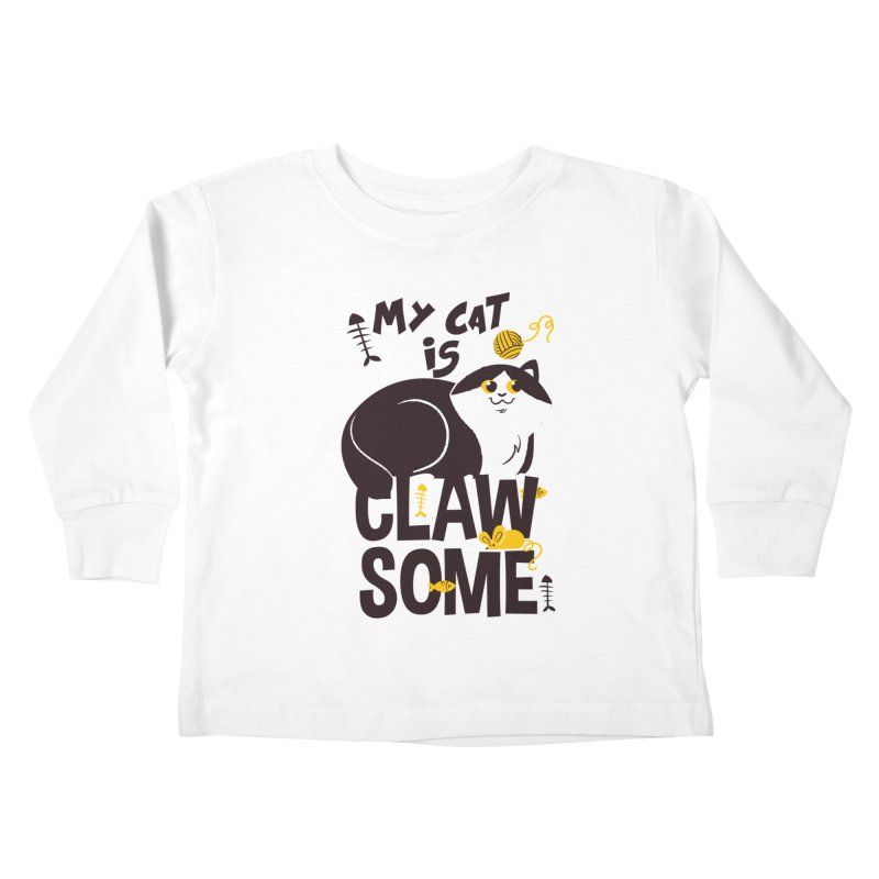 My Cat Is Clawsome Kids Toddler Longsleeve T-Shirt by Purrform