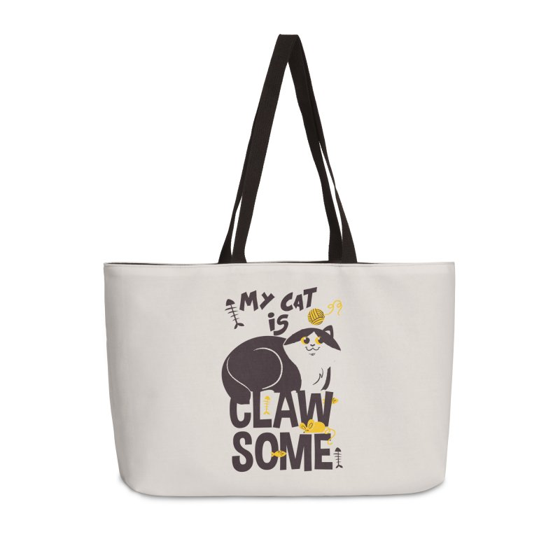 My Cat Is Clawsome Accessories Weekender Bag Bag by Purrform