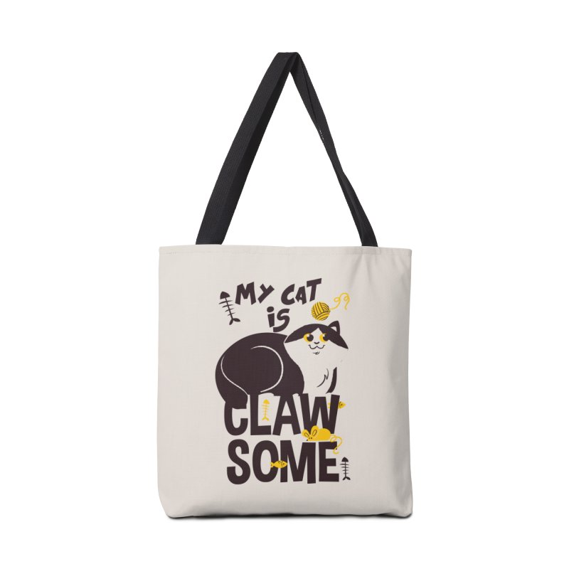 My Cat Is Clawsome Accessories Tote Bag Bag by Purrform