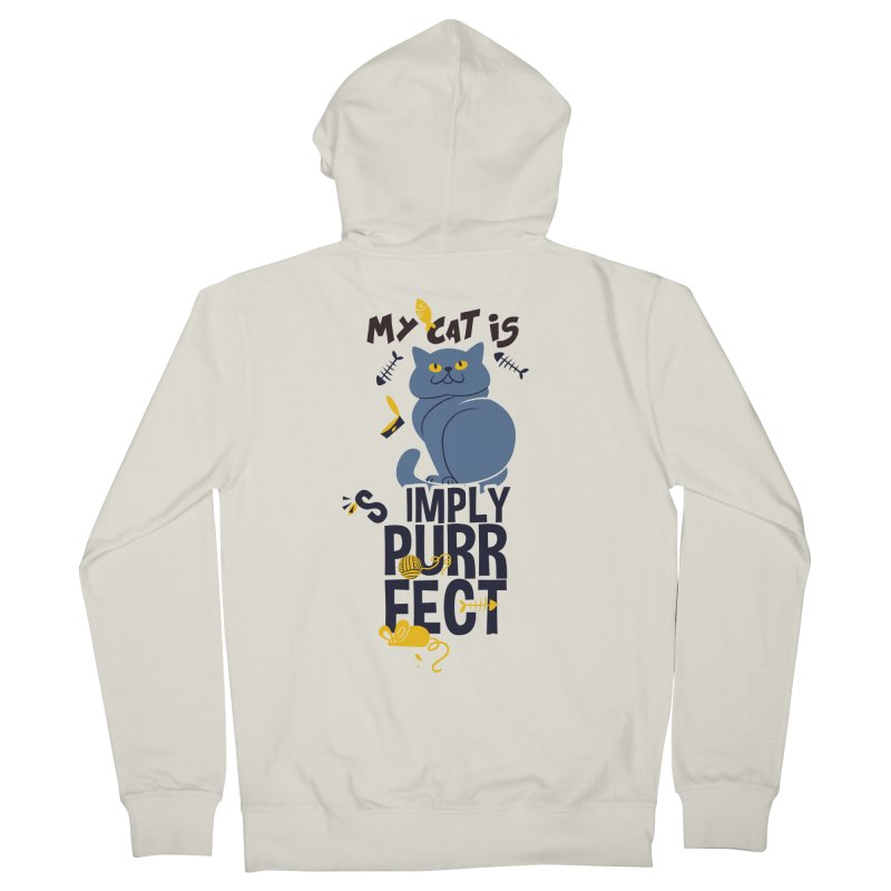 My Cat Is Simply Purrfect Men's French Terry Zip-Up Hoody by Purrform