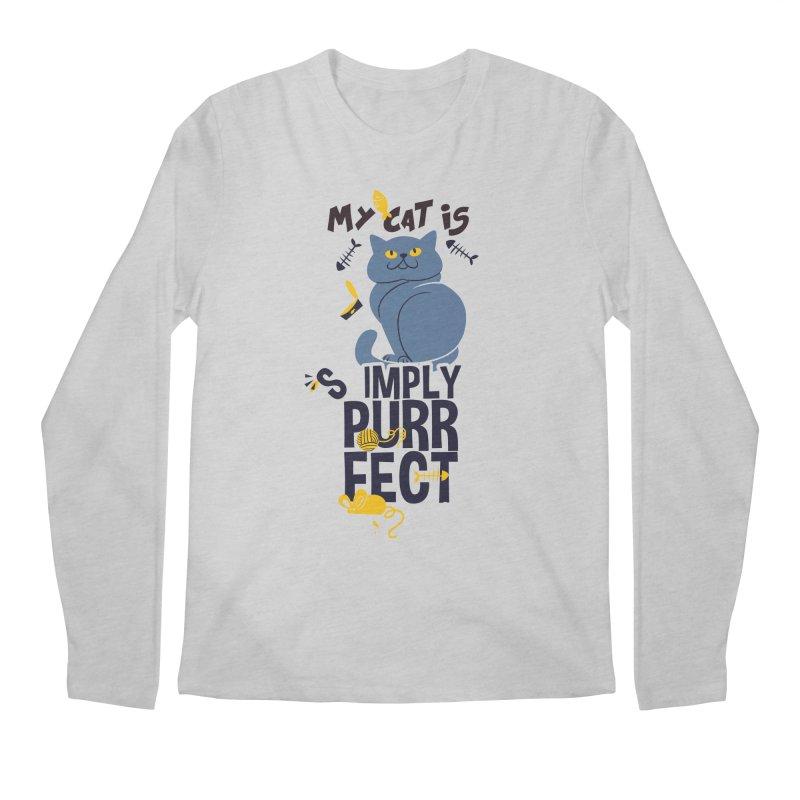 My Cat Is Simply Purrfect Men's Regular Longsleeve T-Shirt by Purrform