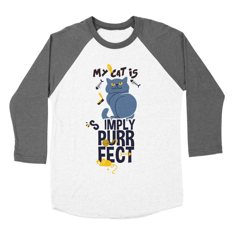 My Cat Is Simply Purrfect Men's Baseball Triblend Longsleeve T-Shirt by Purrform