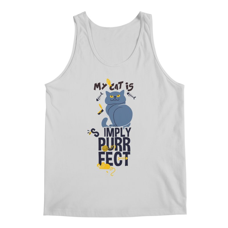 My Cat Is Simply Purrfect Men's Regular Tank by Purrform