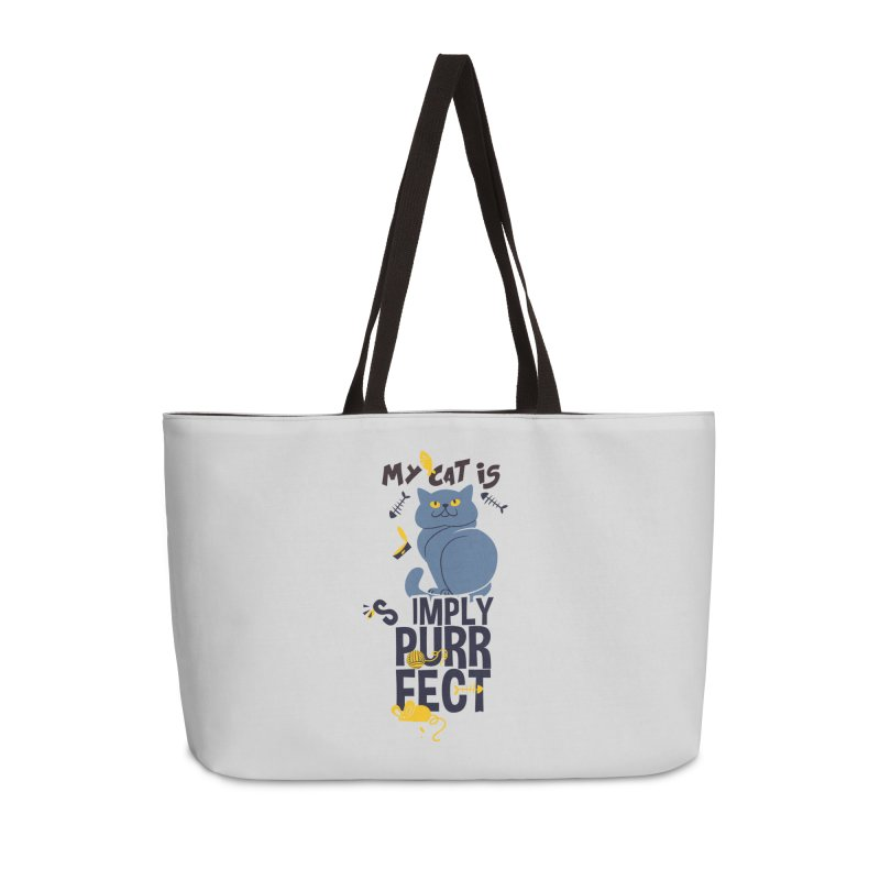 My Cat Is Simply Purrfect Accessories Weekender Bag Bag by Purrform