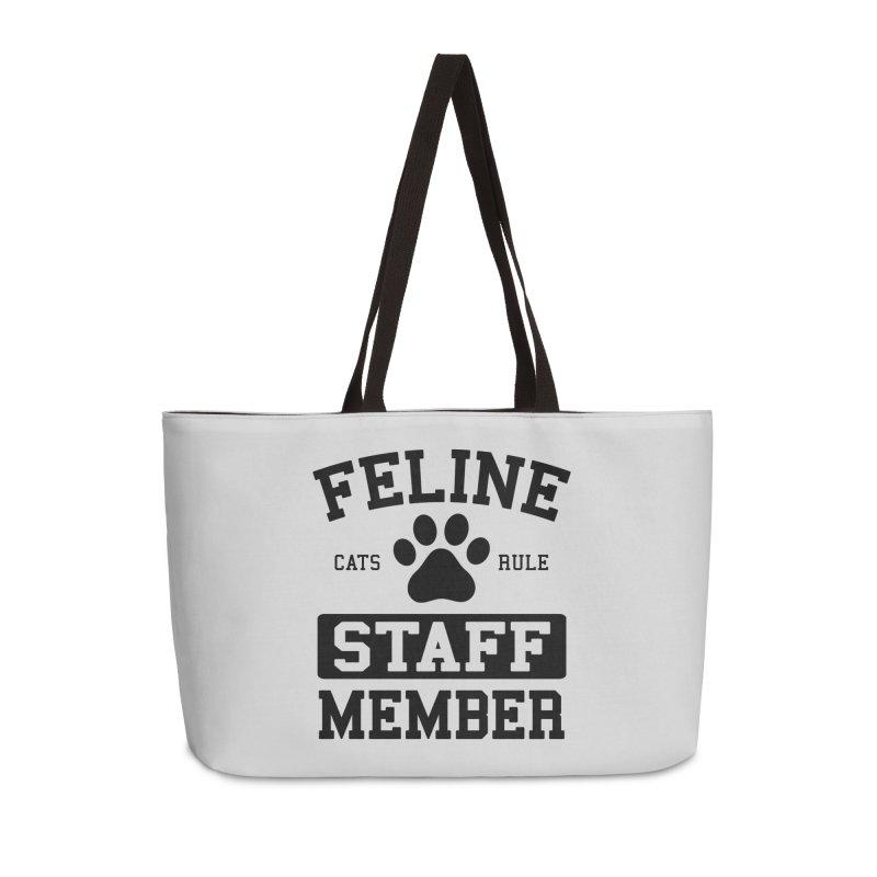 Feline Staff Member Accessories Weekender Bag Bag by Purrform