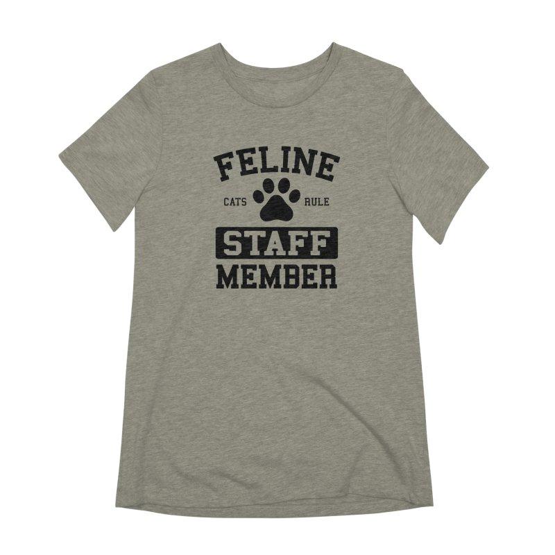 Feline Staff Member Women's Extra Soft T-Shirt by Purrform