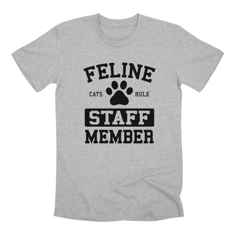 Feline Staff Member Men's Premium T-Shirt by Purrform