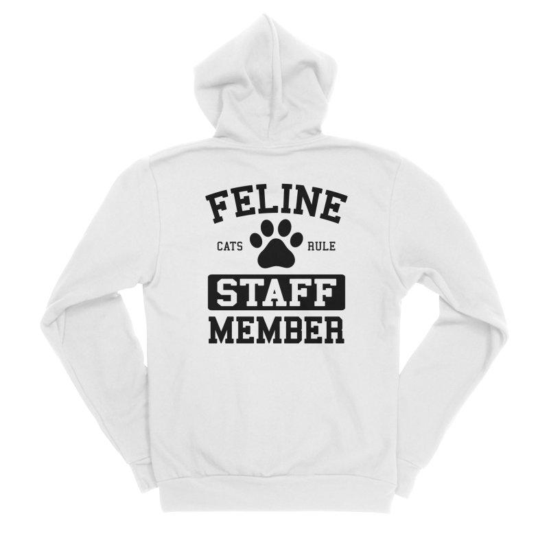 Feline Staff Member Women's Sponge Fleece Zip-Up Hoody by Purrform