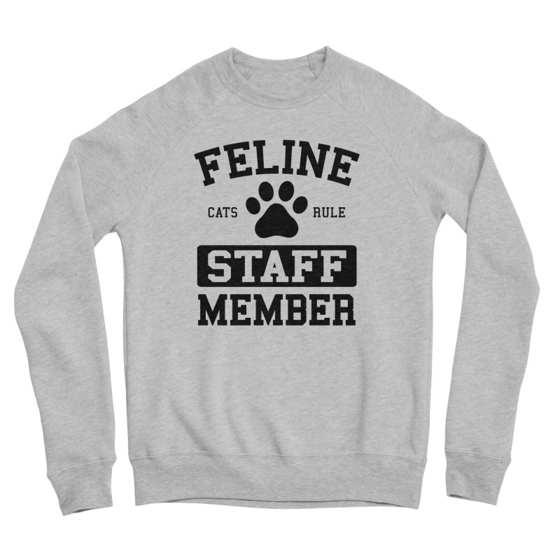 Feline Staff Member Men's Sponge Fleece Sweatshirt by Purrform