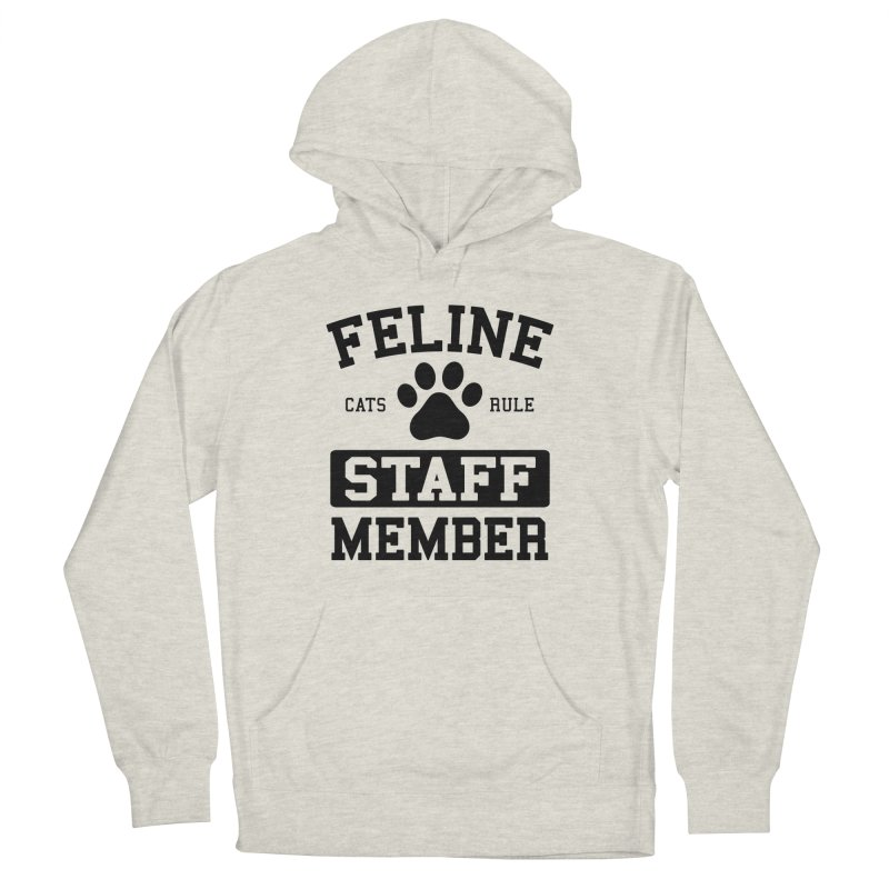 Feline Staff Member Men's French Terry Pullover Hoody by Purrform