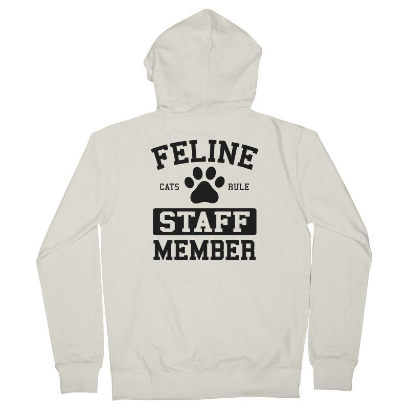 Feline Staff Member Women's French Terry Zip-Up Hoody by Purrform