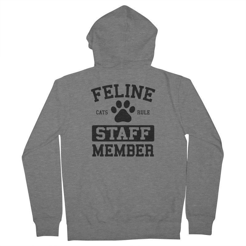 Feline Staff Member Men's French Terry Zip-Up Hoody by Purrform