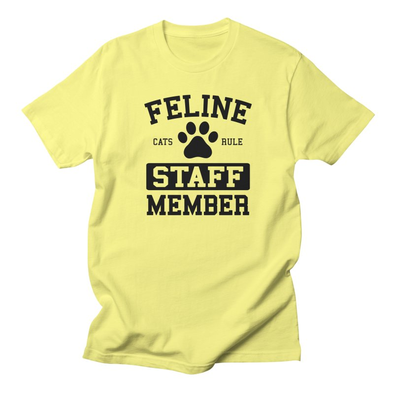Feline Staff Member Men's T-Shirt by Purrform
