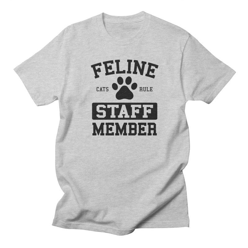Feline Staff Member Men's Regular T-Shirt by Purrform